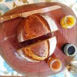Pão de Tomate com azeitonas pretas