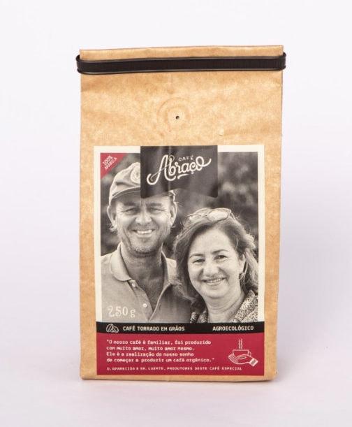 Café Abraço 100% Arábica - Aparecida e Laerte - Grãos - 250 gramas