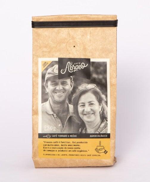 Café Abraço 100% Arábica - Aparecida e Laerte - Moído - 250 gramas