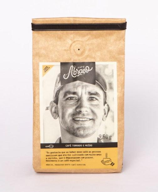 Café Abraço 100% Arábica - Márcio - Moído - 250 gramas
