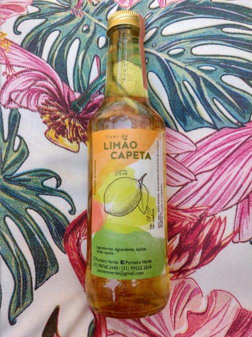 Licor artesanal de limão capeta