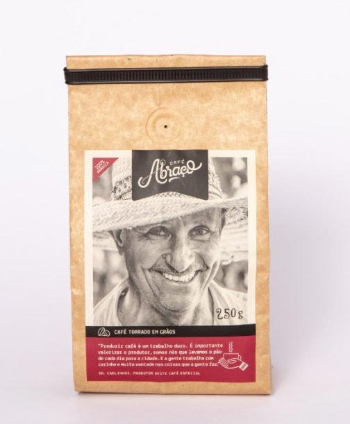Café Abraço 100% Arábica - Carlinho - Grãos - 250 gramas