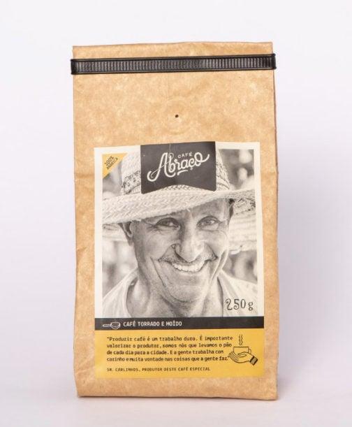 Café Abraço 100% Arábica - Carlinho - Moído - 250 gramas