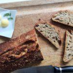 Pão com alvéolos grandes
