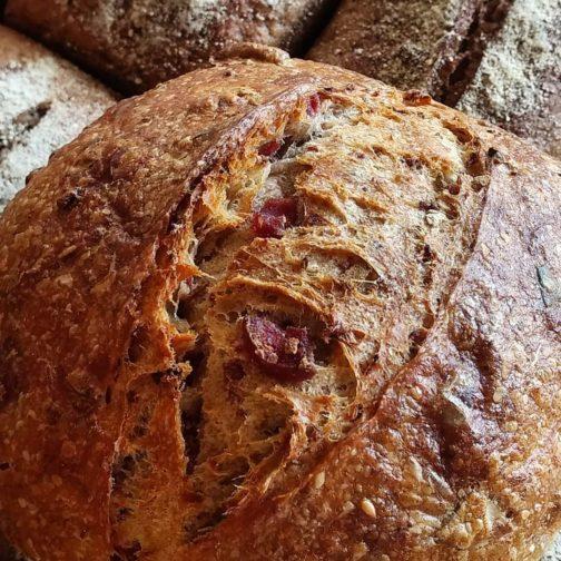 Pão de linguiça defumada bratzwurst