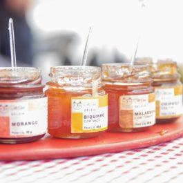 Kit com 4 Geléias Deli Chat (Frutas vermelhas, Frutas Amarelas, Chipotle com figo turco, Dedo de Moça com Tomate) – 40 g. cada