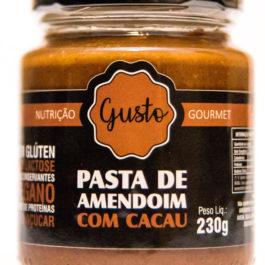 Pasta de amendoim com cacau (zero açúcar) – Gusto – 230g