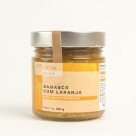 Geléia de damasco com laranja sem açúcar da Deli Chat – 260 gramas