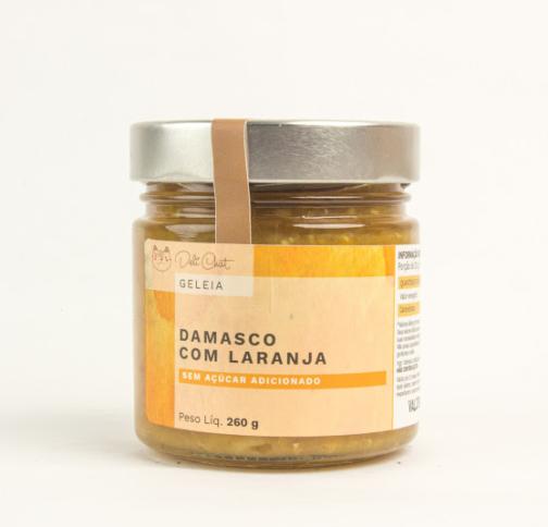 Geléia de damasco com laranja sem açúcar da Deli Chat - 260 gramas 2