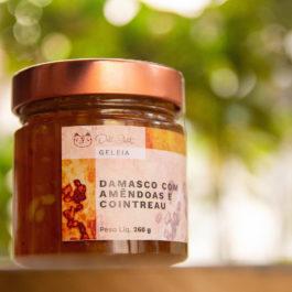 Geléia de damasco, amêndoas e Contreau da Deli Chat  – 260 gramas
