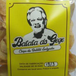 Chips de Batata do Gegê (sem adição de sal)
