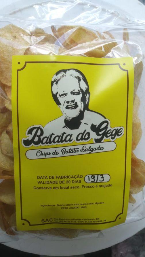 Chips de Batata do Gegê (sem adição de sal) 1