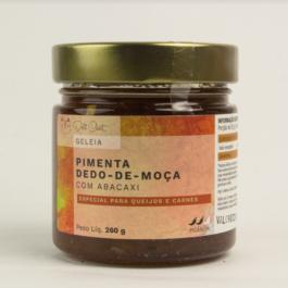 Geléia de Pimenta dedo de moça com abacaxi da Deli Chat – 260 gramas