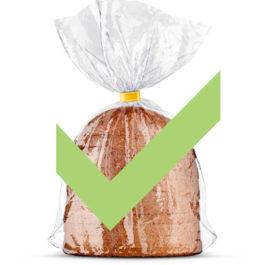 Quero que embale meus pães COM plástico
