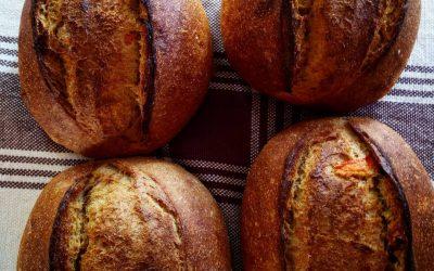 Pão 100% integral com abóbora